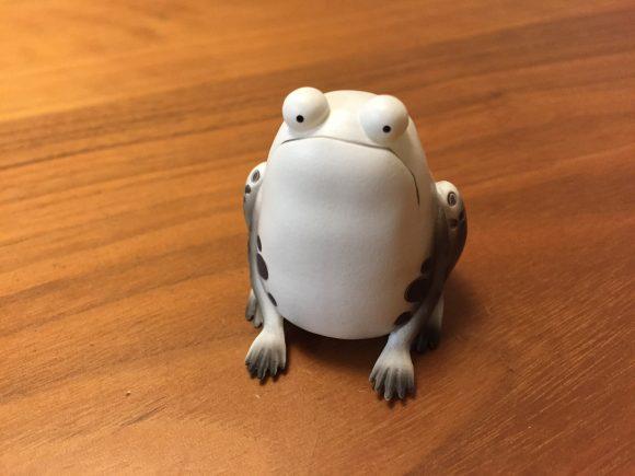 「若冲の蛙」前から見たところ